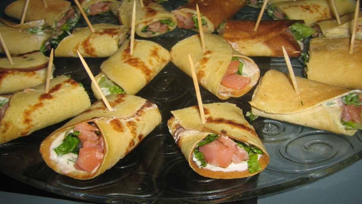 Crêpes au saumon fumé épinards et fromage blanc
