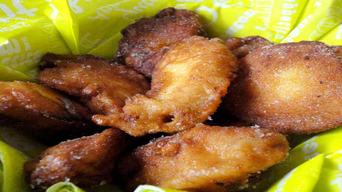 Délicieux beignets aux pommes et amande