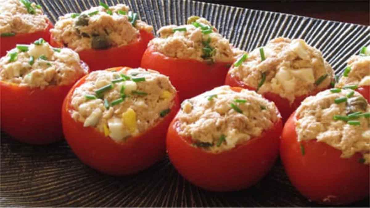 Exquises tomates farcies à la mousse de thon