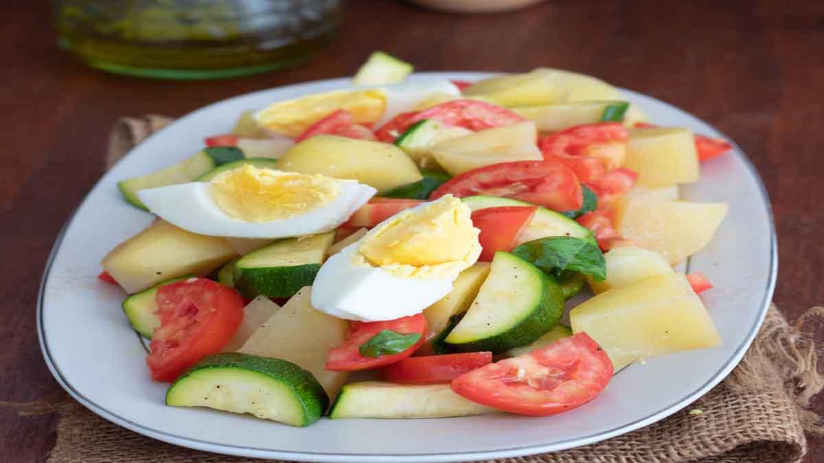 Salade légère de courgettes et pommes de terre