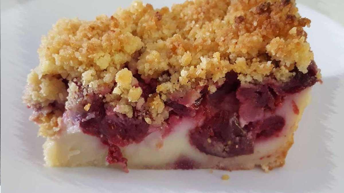 Sublime clafoutis aux cerises façon crumb cake