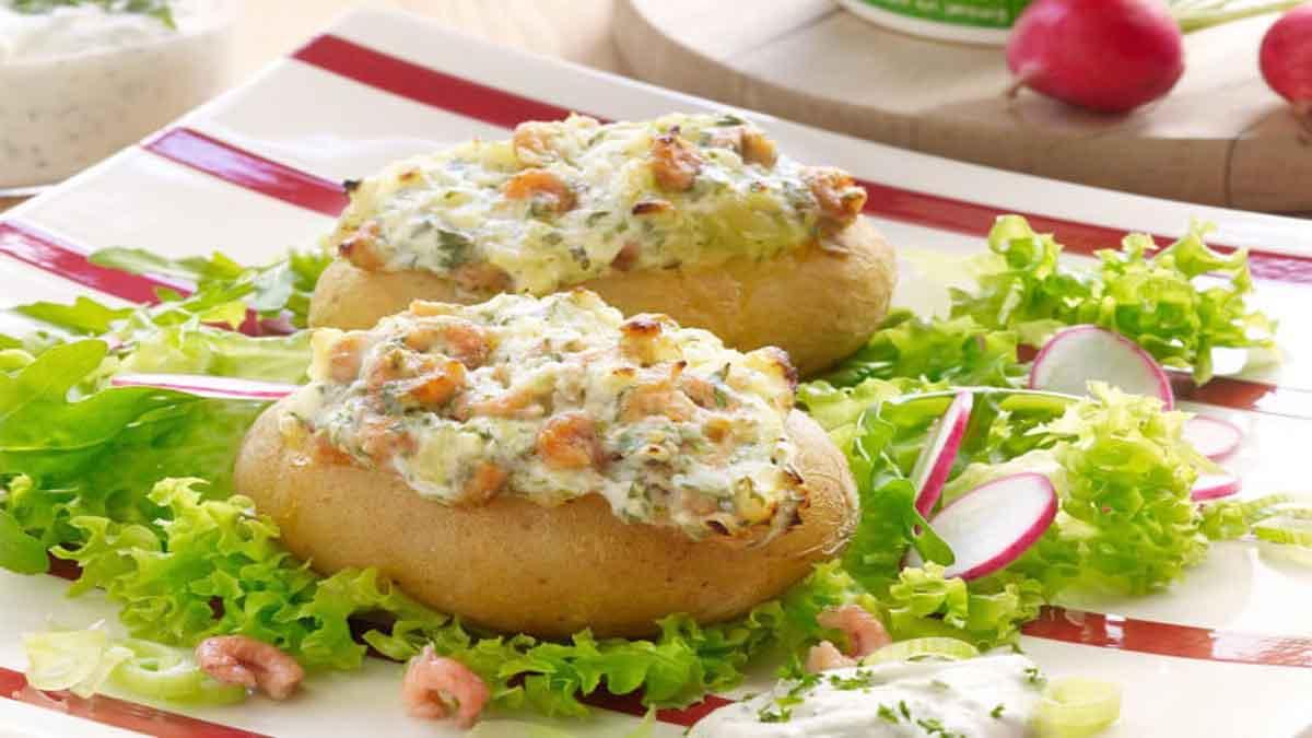 Succulentes pommes de terre farcies aux crevettes