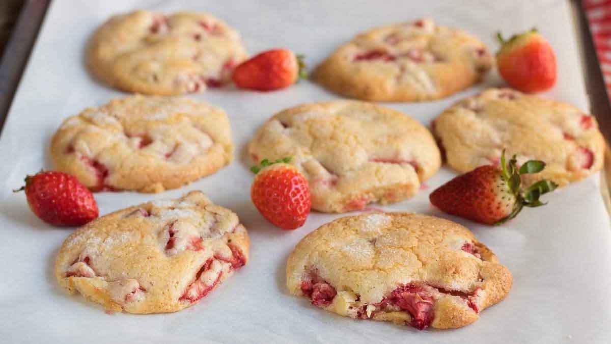 Succulents cookies aux fraises