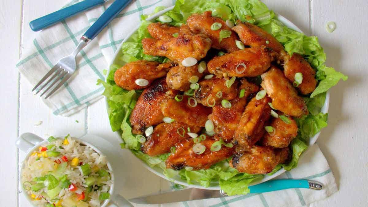 ailes de poulet à la sauce barbecue et miel