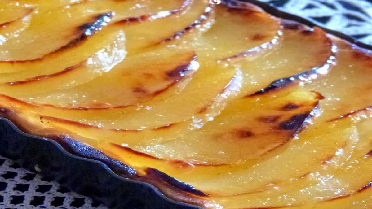tarte pommes à la crème pâtissière