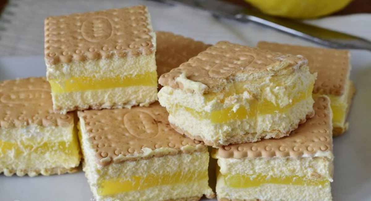 Biscuits farcis au tiramisu et crème au citron