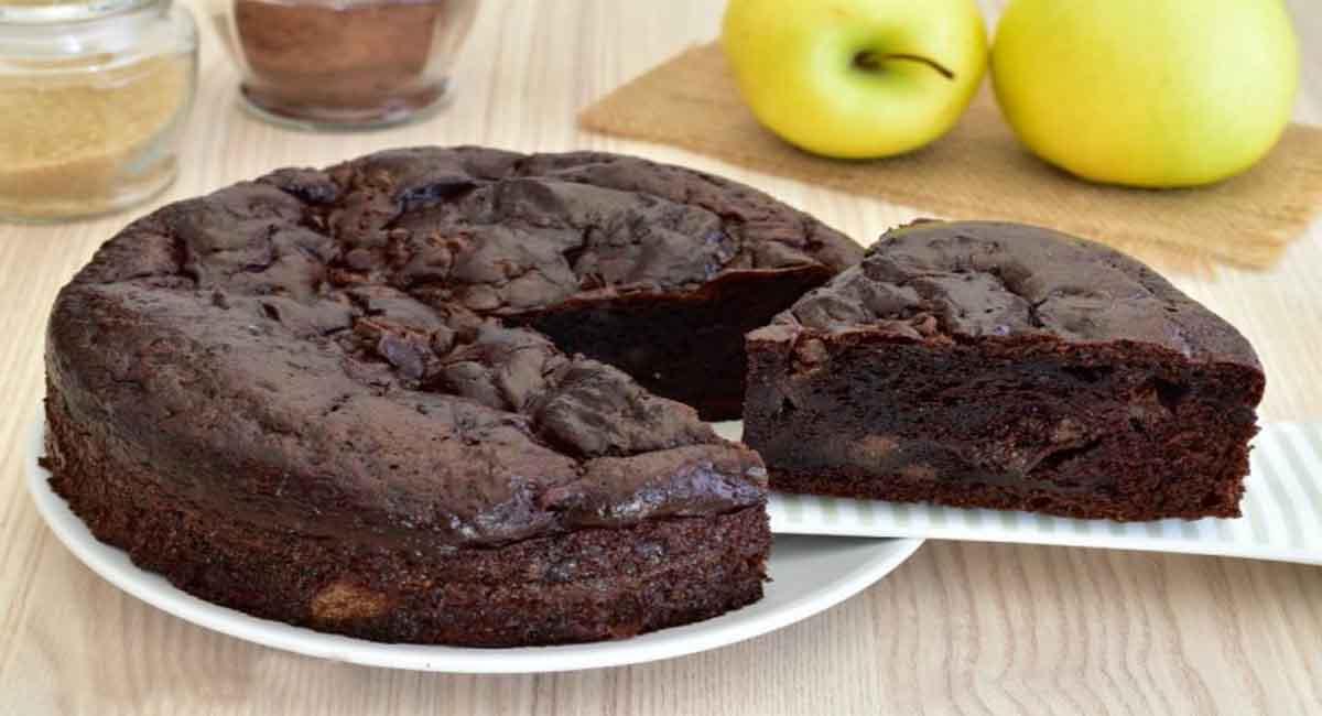Gâteau aux pommes à la ricotta et au chocolat