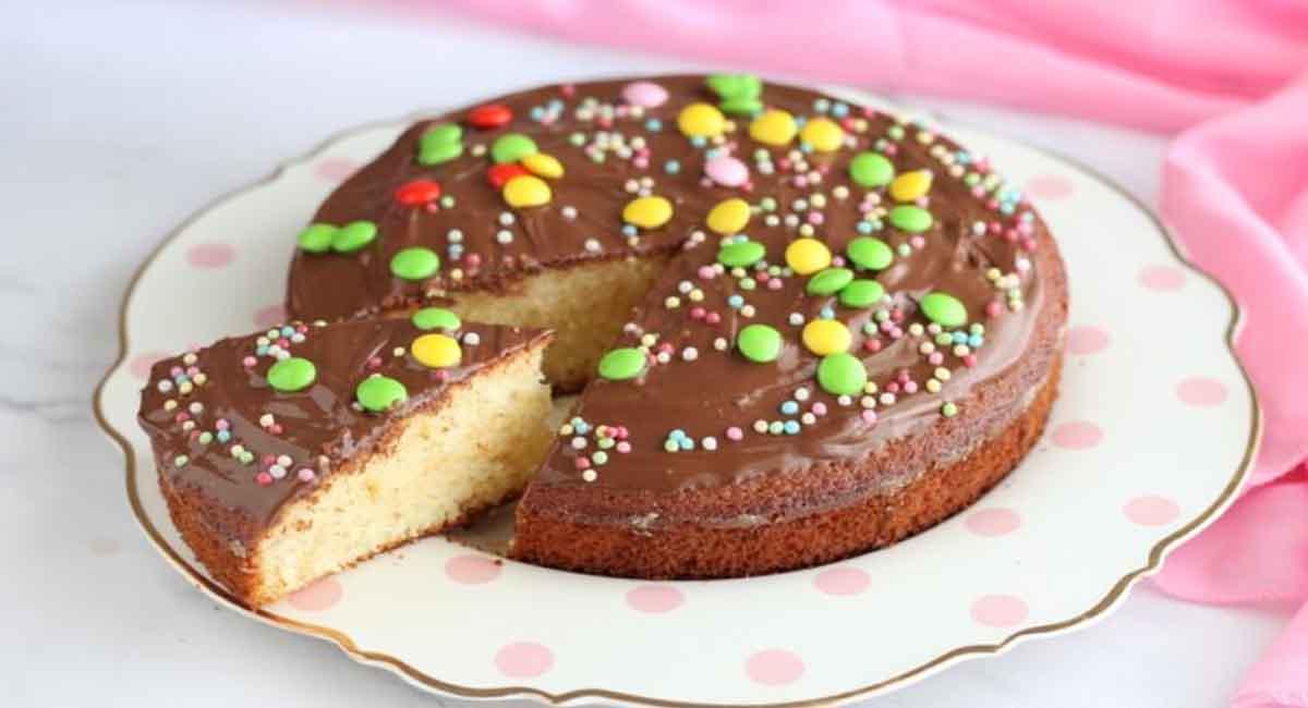 Gâteau classique nappé au Nutella