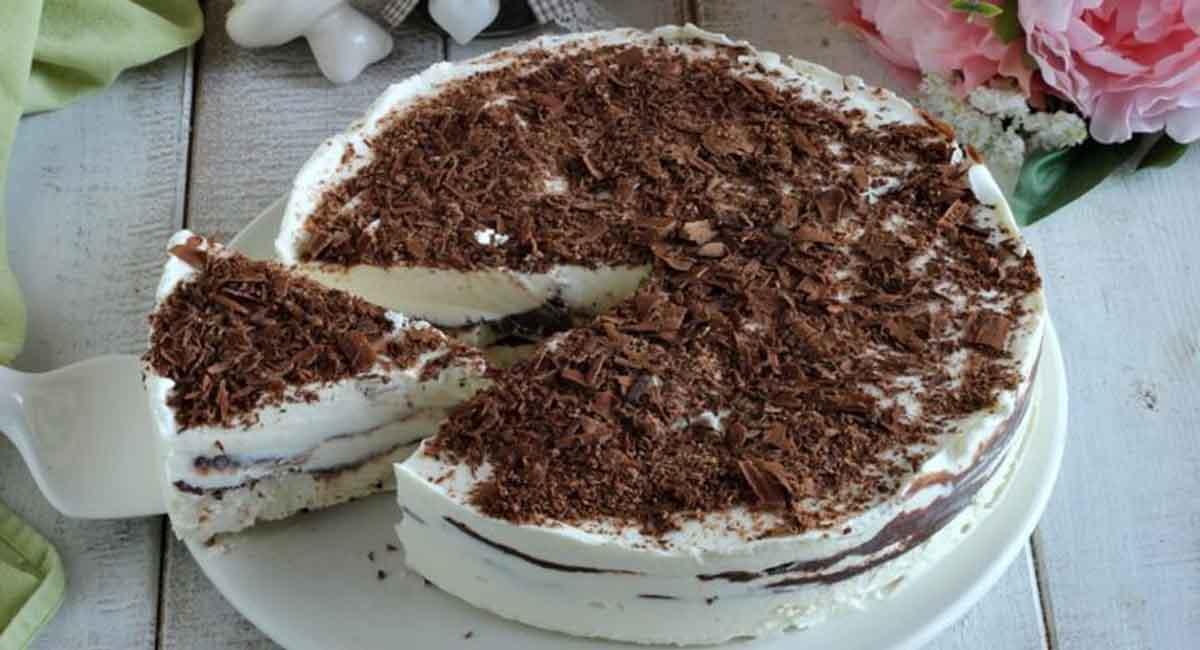Gâteau sans cuisson au mascarpone et au chocolat
