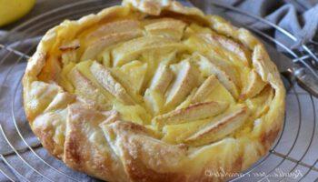 Tarte aux pommes et crème au fromage