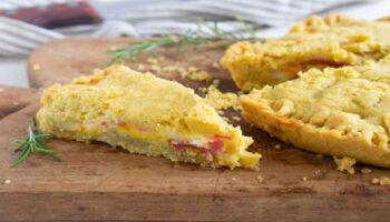 Tarte farcie au jambon et au fromage