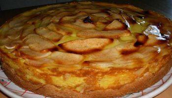 Tarte-flan aux pommes à l'ancienne