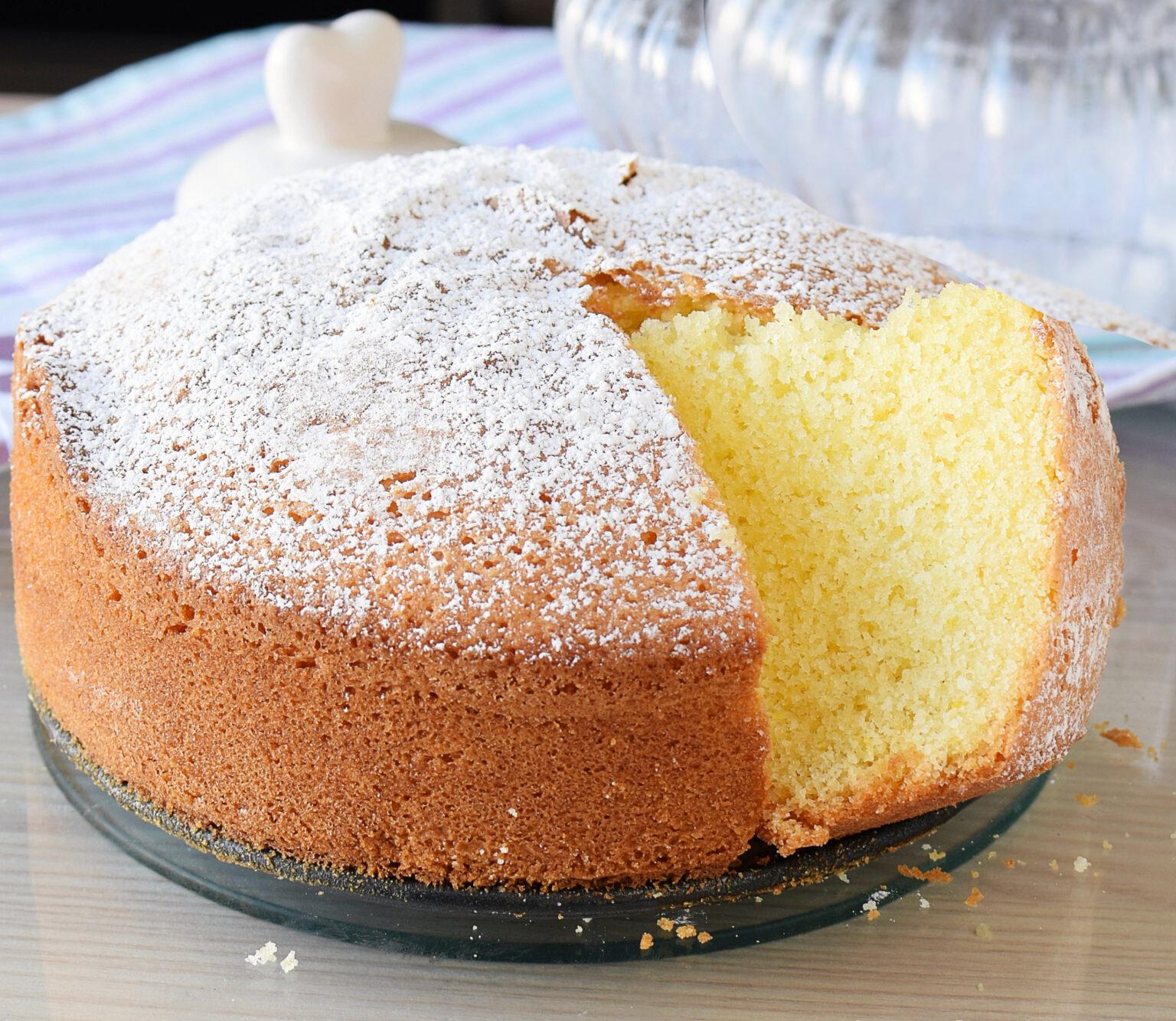 Gâteau moelleux sans gluten ni lactose